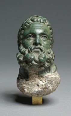 Head of Herakles, 3rd-2nd Centuries BC Greece, Hellenistic period  bronze filled with lead