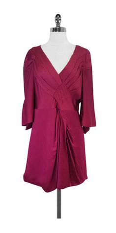 BCBG Max Azria Maroon Draped Dress
