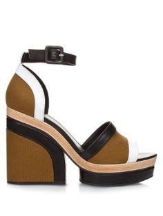 Charlotte leather and canvas platform sandals | Pierre Hardy | MATCHESFASHION.COM US