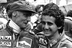 Alain Prost amb Niki Lauda