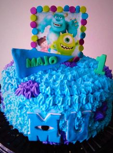 cake monsters inc Monsters Inc, Birthday Cake, Desserts, Food Cakes, Tailgate Desserts, Deserts, Birthday Cakes, Postres, Dessert