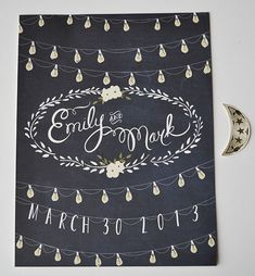 moonlight wedding welcome sign by first snow fall   signs entrance weddings   http://emmalinebride.com/decor/signs-entrance-weddings/