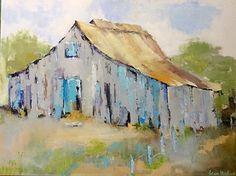 Barn Rural Wonder by Lenn Hopkins Oil ~ x Watercolor Barns, Watercolor Paintings, Barn Paintings, Easy Watercolor, Watercolours, Canvas Painting Landscape, Acrylic Painting Canvas, Canvas Art, Barn Pictures