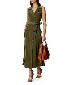 Buy Karen Millen Satin Shirt Dress, Khaki from our Women's Dresses range at John Lewis & Partners. Khaki Shirt Dress, Long Shirt Dress, Long Sleeve Mini Dress, Occasion Dresses Uk, Safari, Cocktail Dresses Uk, Satin Shirt, Summer Dress Outfits, Karen Millen