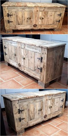 50 Cool Ideas for Wood Pallets Upcycling recycled pallets entryway table idea Wooden Pallet Projects, Wood Pallet Furniture, Pallet Crafts, Furniture Projects, Rustic Furniture, Diy Furniture, Pallet Ideas, Furniture Stores, Furniture Websites