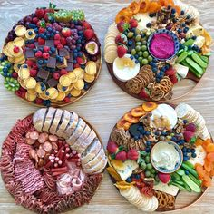 Which one would you choose? Plateau Charcuterie, Charcuterie And Cheese Board, Cheese Boards, Breakfast Platter, Dessert Platter, Party Food Platters, Cheese Platters, Grazing Platter Ideas, Baked Goat Cheese