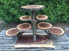 Large Log Elm Wood Rustic Cake 90 Cupcakes Pie Stand Wedding party shower wooden 7 tier Collapsible, lumberjack party, wild things are, boho Lumberjack Party, Rustic Cake, Rustic Wood, Wood Logs, Diy Holz, Wood Slices, Walnut Wood, Rustic Wedding, Wedding Country