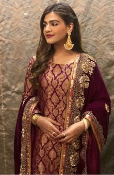 Bride at her post wedding dinner/ dawat Walima Dress, Shadi Dresses, Indian Dresses, Indian Outfits, Pakistani Wedding Outfits, Pakistani Wedding Dresses, Pakistani Dress Design, Pakistani Couture, Desi Clothes