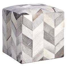 Masson Hair on Hide Pouf | Poufs | Bedding and Pillows | Z Gallerie