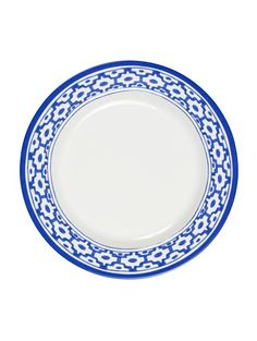 Round Dinner Plate With Tile Border