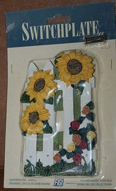 Sunflower Garden Light Switch Cover - Track Lighting Accessories - Amazon.com #kids#wallcovering#wallpaper