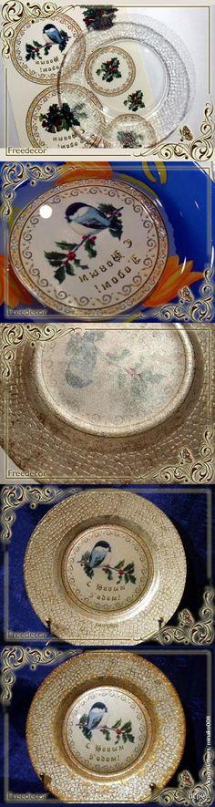 Декупаж - Сайт любителей декупажа - DCPG.RU | Обратный декупаж новогодней тарелки