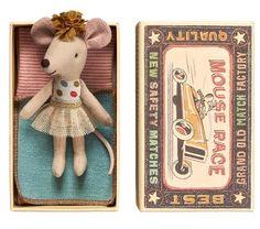 Mouse, Littlesister in box, Maileg, 16677400 - Expédition immédiate - CLOUDY & SKIOUGH
