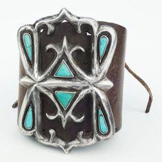 Vintage Navajo Silver and Turquoise Ketoh, circa 1940 at 1stdibs