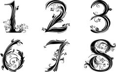 Number Fonts For Tattoos