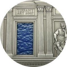 2007 Palau 2 oz $10 silver coin - Tiffany Art (Renaissance).