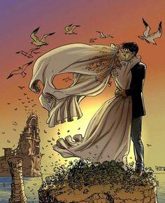 #skull #illustration #bride