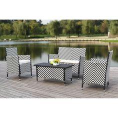 Outdoor Sofa, Outdoor Spaces, Outdoor Living, Outdoor Furniture Sets, Outdoor Decor, Furniture Ideas, Garden Sofa Set, Contemporary Lounge, Rattan Sofa