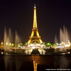 "The city of Paris looks stunning at night. No wonder, they say ""Paris is always a good idea!""."