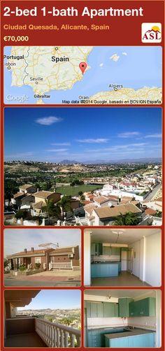 2-bed 1-bath Apartment in Ciudad Quesada, Alicante, Spain ►€70,000 #PropertyForSaleInSpain