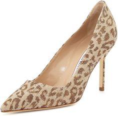 Manolo Blahnik BB Fabric 90mm Pump, Leopard heels http://www.shopstyle.com/action/loadRetailerProductPage?id=470263928&pid=uid7609-25959603-56