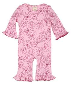 Adooka Organics Peony flower romper - organic baby clothes made in USA