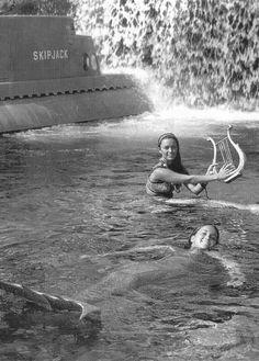 Disneyland mermaids that inhabited the 20,000 Leagues Under the Sea ride