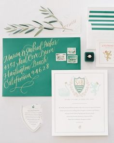 4 Ways to Print Your Wedding Stationery: Letterpress  With roots in the 15th century, letterpress is the oldest print form in use. Blocks of metal or polymer plates with raised type are inked and pressed onto paper to indent letters onto the front and leave the back raised for a tactile, hand-crafted appearance.