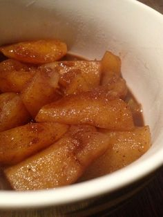 Cinnamon and honey stewed apples