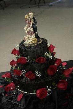 Gâteau de mariage gothique -md