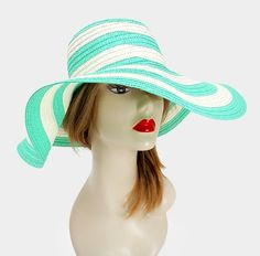 FASHIONISTA Green  And White Beach Sun Cruise Summer Large Floppy Hat. Get the lowest price on FASHIONISTA Green  And White Beach Sun Cruise Summer Large Floppy Hat and other fabulous designer clothing and accessories! Shop Tradesy now
