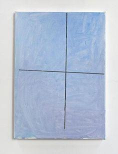 John Zurier, Cross (After Magnús Pálsson), 2013, oil on linen, 70 x 50 cm