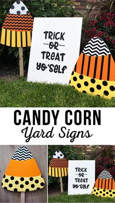 The best DIY projects & DIY ideas and tutorials: sewing, paper craft, DIY. Best Diy Crafts Ideas For Your Home DIY Trick or Treat Yo'Self Halloween Yard Sign -Read Halloween Signs, Halloween 2020, Holidays Halloween, Halloween Crafts, Happy Halloween, Halloween Decorations, Halloween Ideas, Halloween Yard Art, Haunted Halloween