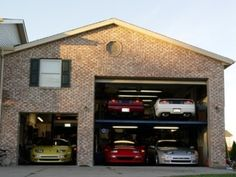 1000 images about car collections on pinterest dream for Small house big garage