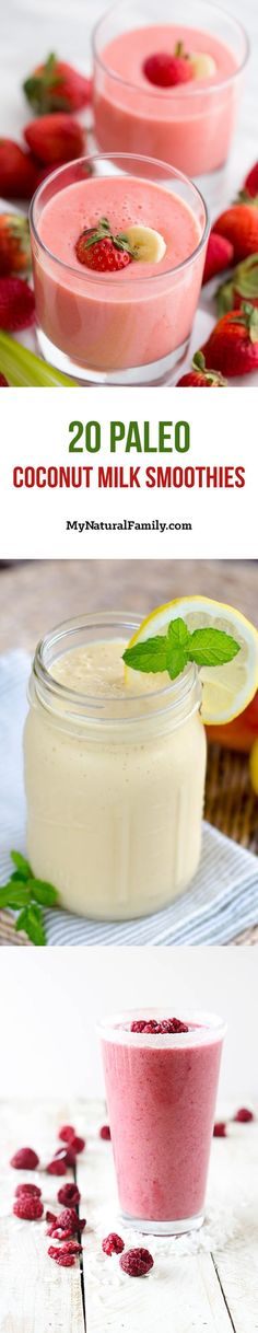 20 of the Best Paleo Coconut Milk Smoothie Recipes - a delicious way to get your fruit