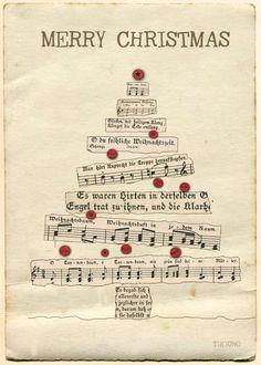 : Postcard with fir tree. Oh fir tree - oh fir tree - how green are your b . - - : Postcard with fir tree. Oh fir tree - oh fir tree - how green are your b . Homemade Christmas Cards, Christmas Art, Christmas Projects, Handmade Christmas, Vintage Christmas, Holiday Cards, Christmas Holidays, Christmas Candle, Christmas Tree Cards