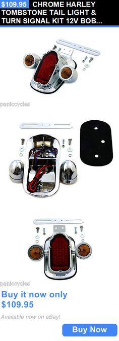 motorcycle parts: Chrome Harley Tombstone Tail Light And Turn Signal Kit 12V Bobber Bagger BUY IT NOW ONLY: $109.95