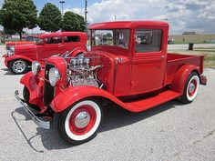 1934 Ford Pickup... Just Beautiful. You can never have too much CHROME on these old style bodies.... just lovem...
