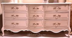 Pink french provincial dresser...sigh