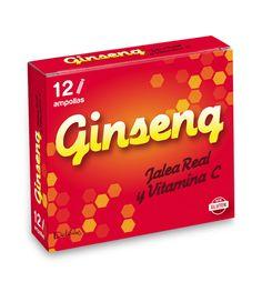 AMPOLLAS GINSENG Las ampollas de Ginseng + Jalea Real + Vitamina C combina los principios activos del Ginseng que te ayudan a promover la vitalidad y la vitamina C que contribuye a la protección de las células frente la daño oxidativo y ayuda a disminuir el cansancio y la fatiga. Caja 12 Ampollas.