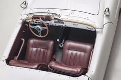 The interior is so clean, uncluttered, and lovely that it brings to mind the early Porsche 356.   - RoadandTrack.com