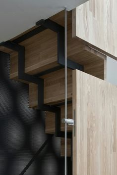 Wood & metal stairs