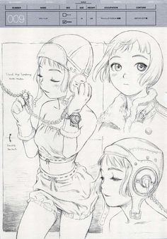 Doujinshi Linkage sketches by Range Murata