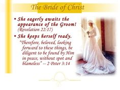 DISCOVERY OF EVE - BRIDE OF CHRIST. Revelation 22 17, 2 Peter 3, Bride Of Christ, Praise The Lords, Discovery, Peace, Words, Life, Google Search