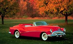 She Sat Low, As-a-Matter of Fact in the Windshield & Convertible, and She Appeared Long, Elegant and Sleek With Four Seats, the Buick Skylark. Buick Roadmaster, Buick Skylark, Convertible, Buick Cars, Buick Gmc, Gm Car, Unique Cars, Old Cars, Custom Cars
