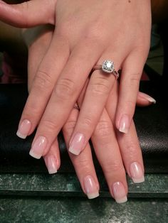 Make an original manicure for Valentine's Day - My Nails Natural Looking Acrylic Nails, Natural Gel Nails, Short Natural Nails, Cute Nails, Pretty Nails, My Nails, French Nails, Gel Overlay Nails, Clear Gel Nails