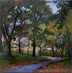 Original Oil Painting Landscape, October Path. Plein Air Impressionist Oil on Canvas. $290.00, via Etsy.