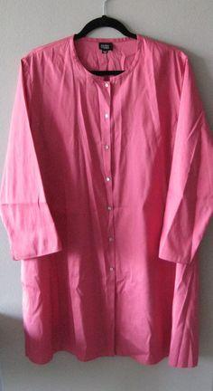 959d5739b19 Eileen Fisher Pink Dupioni Silk Mandarin Collar Tunic XL #EileenFisher # Tunic