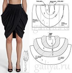 Skirt 😍✂ by mirianhersew dress memademay alinti diy motivatio sewing sew patterndesign pattern dresspattern…use as Peplum for jacket ideaNo photo description available.from fashion design Skirt Patterns Sewing, Blouse Patterns, Clothing Patterns, Fashion Sewing, Diy Fashion, Sewing Clothes, Diy Clothes, Pattern Draping, Drape Skirt Pattern