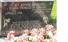 Princess Ileana / Mother Alexandra's grave